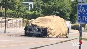 Police investigating reports of car explosion outside Kitchener courthouse
