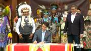 Play video: Trudeau signs historic agreement as Cowessess First Nation becomes 1st to control its child welfare system