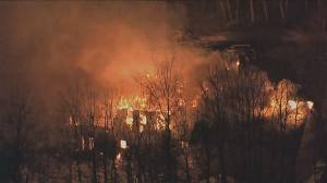 House gutted, homeowner injured in Friday fire (02:56)