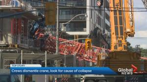 Crews continue to dismantle collapsed Toronto crane