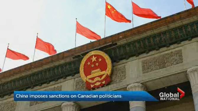 Click to play video: China announces sanctions on individuals, entities in Canada, U.S.