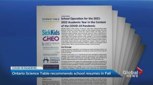 SickKids Hospital provides guidance for return to in-person school (02:20)