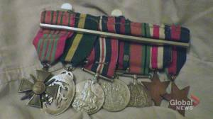 Calgary man pleads for help finding missing war medals (02:01)