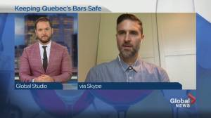 Encouraging social-distancing in Quebec's bars