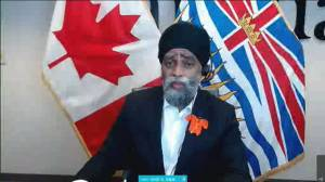 Defence Minister details Armed Forces, air support ready to help with B.C. wildfires (05:40)