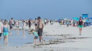 Many Americans disregard physical distancing for long weekend