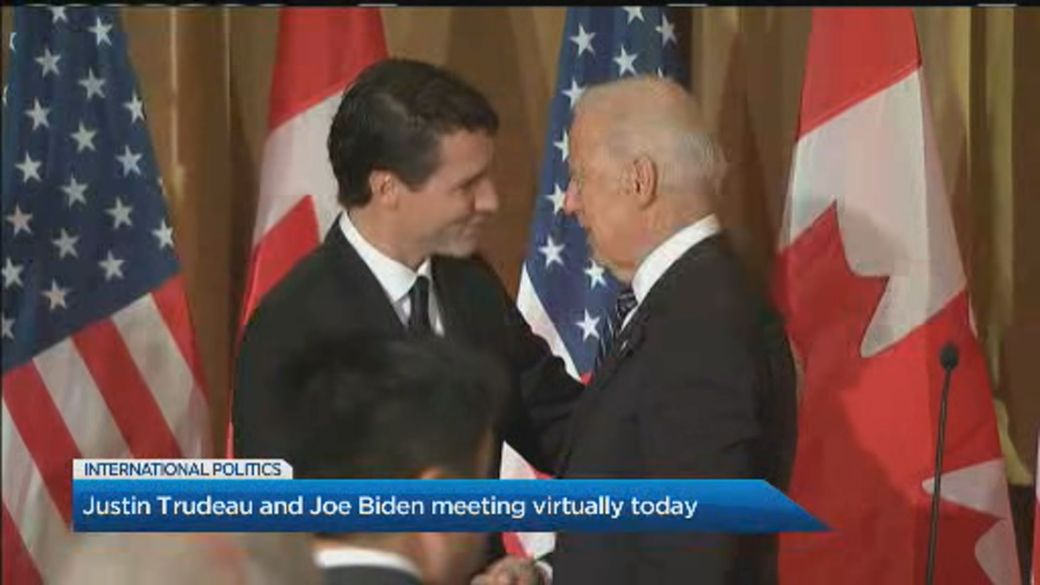 Click to play video 'What to expect from Trudeau and Biden's 1st bilateral meeting'