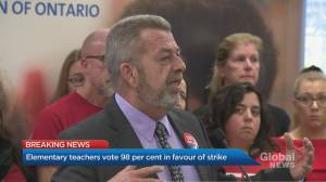 Ontario elementary teachers vote 98 per cent in favour of strike