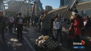 Wet'suwet'en solidarity protest blocks traffic on Calgary's Memorial Drive