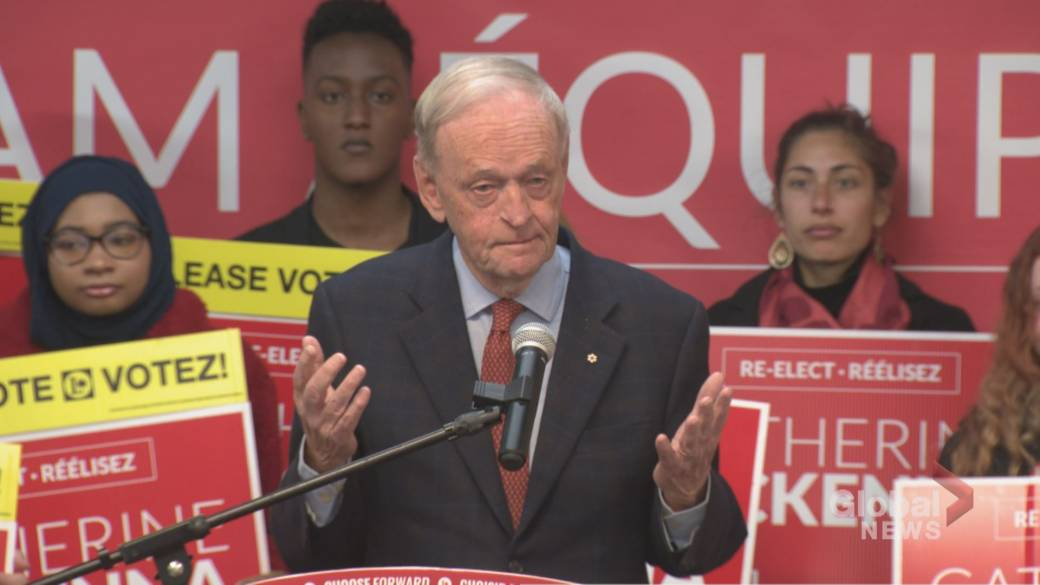 Chrétien warns against 'Trump mentality' during Liberal campaign event with McKenna