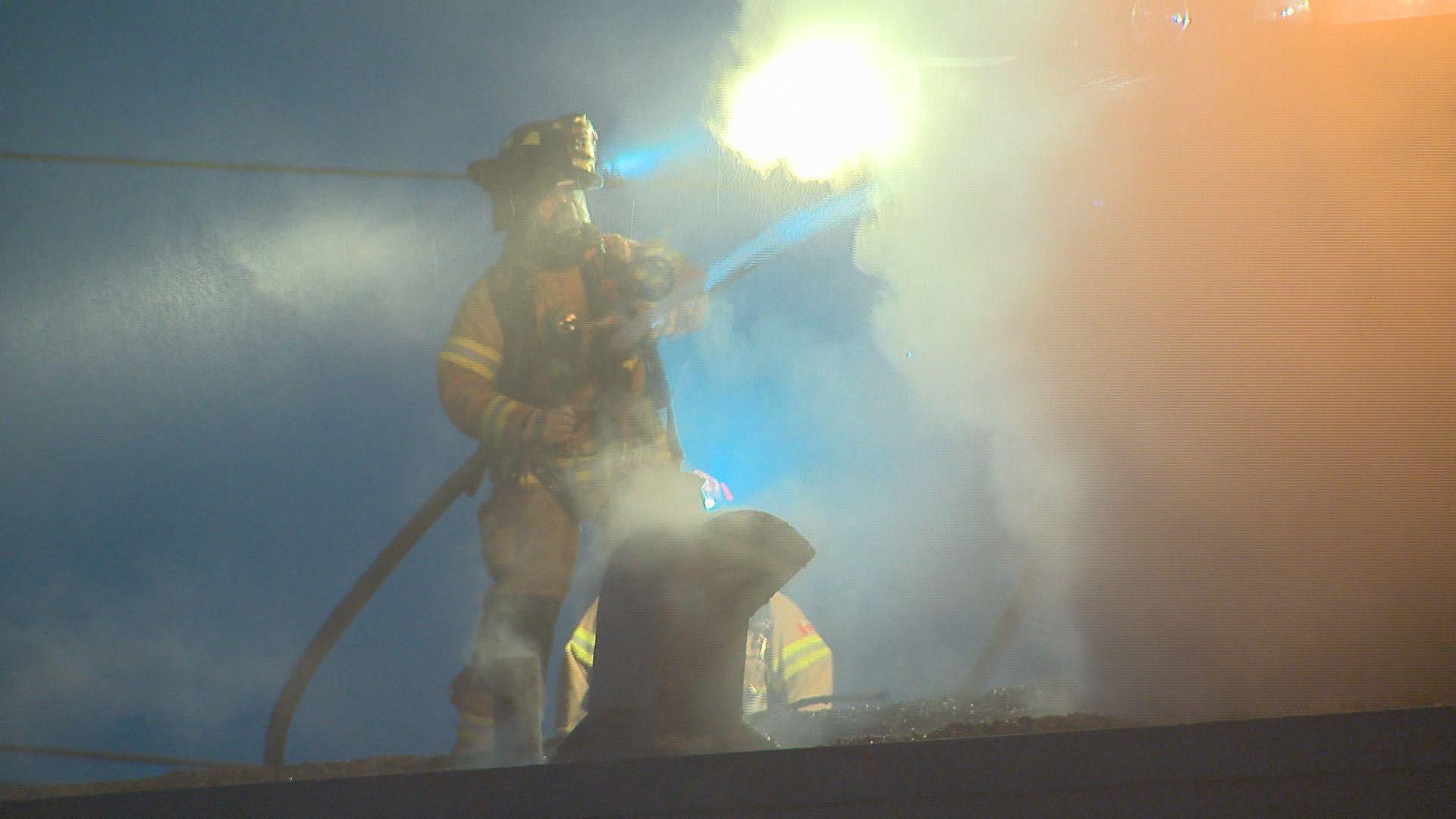 Firefighters battle blaze at Edmonton strip club
