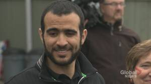 Omar Khadr to speak at event marking the international day against using child soldier (01:31)