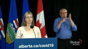 'We need to learn how to live with this virus without these rules': Dr. Hinshaw on Alberta's reopening (01:41)