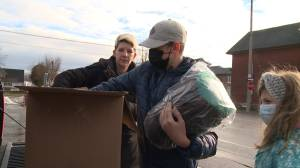 Durham family donates sleeping bags for the homeless (01:52)