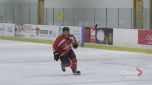 First responder chasing pro hockey dreams in his 40s (03:01)