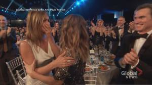 Pitt, Aniston among winners at SAG Awards