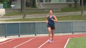 Gananoque's Mackenzie Bowman plans to run the Boston Marathon on Sunday (02:03)