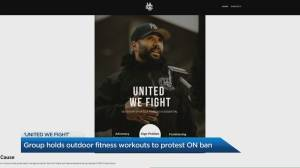 Gym owner holds outdoor fitness classes in protest of Ontario lockdown restrictions (04:38)
