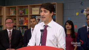 Federal Election 2019: Trudeau says Liberals believe in 'investing in families'