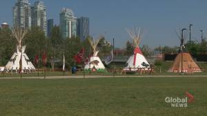 Tipi holders at Calgary Stampede sharing stories of Indigenous culture (02:08)