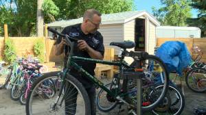 Saskatoon man providing joy to kids one bike at a time