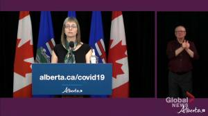 'We are in a very different place than… 1 year ago':  Hinshaw marks anniversary of COVID-19 in Alberta (01:37)