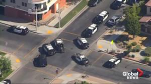 Police search for sniper who shot Los Angeles County deputy sheriff