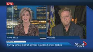 Surrey school district advises self-isolation and mass COVID-19 testing (01:29)