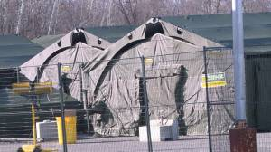 A multi military tent set-up in Brockville has people talking (01:38)