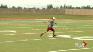 'There's so much talent in southern Alberta:' Football skills camp in Lethbridge (01:55)