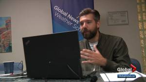 Jesse Beyer hosts virtual weather school with Edmonton students (01:26)