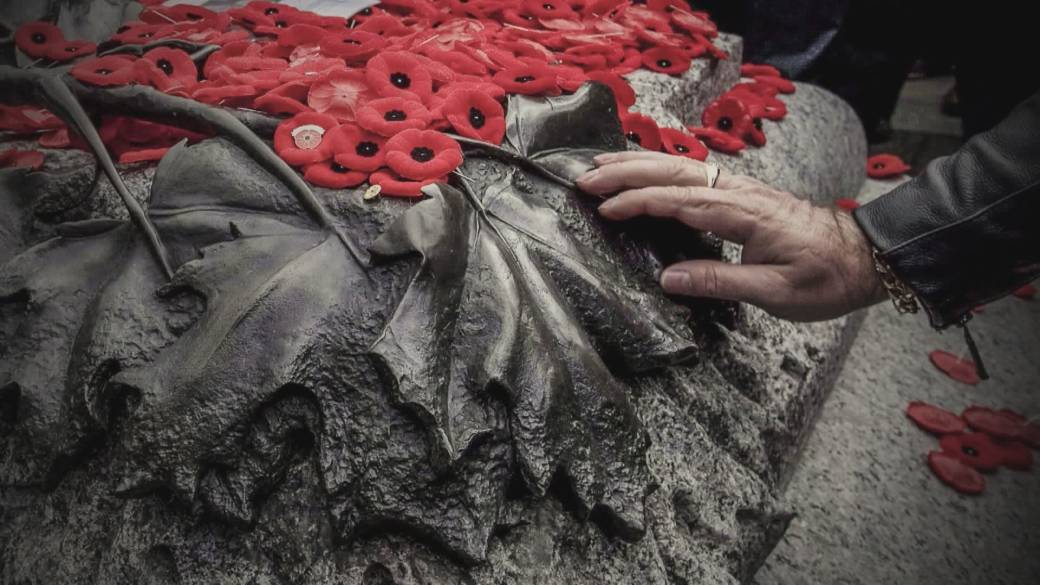 Click to play video 'Reduced Remembrance Day ceremonies'