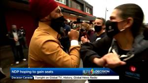 Canada election: NDP campaigns on affordability, equality and leader likability (01:23)