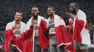 'It's a blessing,' Bronze medalist Jerome Blake on his first Olympics (05:03)