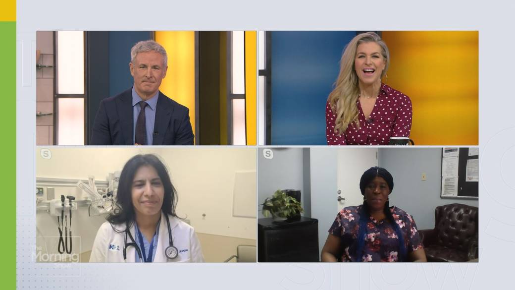 Click to play video: 'Front-line health-care workers get emotional reflecting on one-year anniversary of COVID-19'