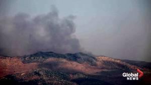 Israeli forces exchanges fire with Hezbollah along Lebanon border (01:11)