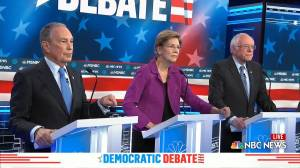 Bloomberg takes hits during first Democratic debate appearance ahead of Nevada caucuses