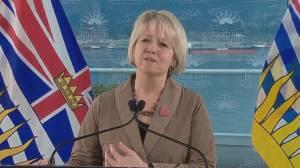 Dr. Bonnie Henry defends comments about RCMP (02:02)