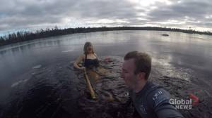 N.S. woman plunges for Parker Street Food Bank (02:01)