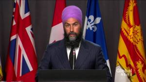 NDP Leader Jagmeet Singh signals party intends to support throne speech