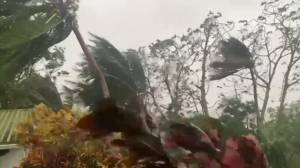 Hurricane Iota's winds pummel Colombia as Category 5 storm starts trek through Central America (00:39)