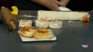 Pizza rolls with Cinnaholic