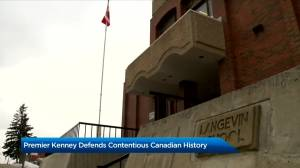 Kenney laments cancel culture after Calgary school renamed (02:32)