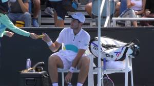 Tennis player criticized at Australian Open for asking ball girl to peel banana