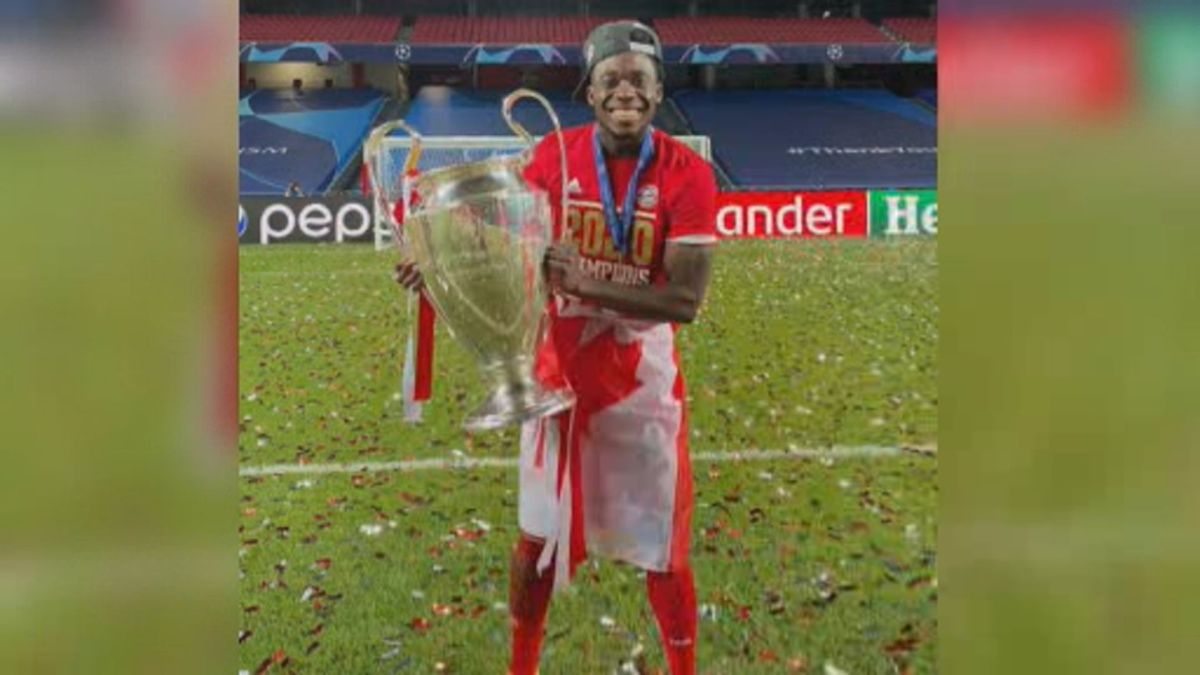 Click to play video: 'Canadian soccer star Alphonso Davies makes history in Champions League'