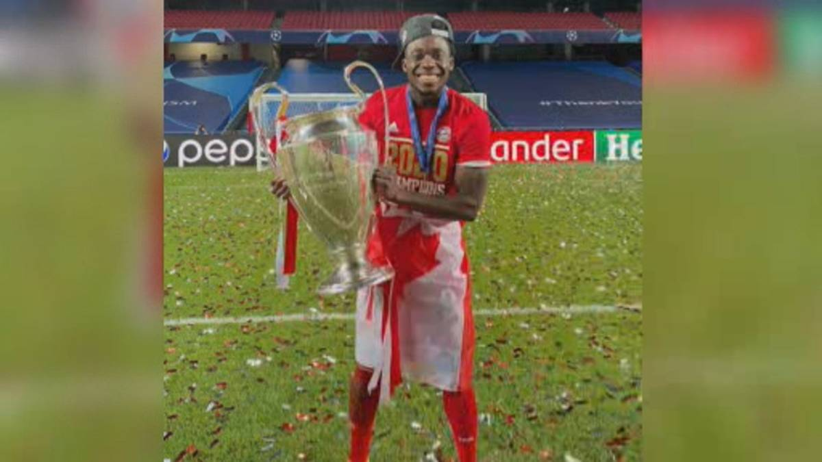 Click to play video 'Canadian soccer star Alphonso Davies makes history in Champions League'