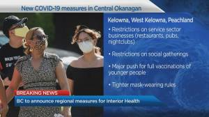 COVID-19:  B.C. to announce regional measure for Interior Health (03:21)