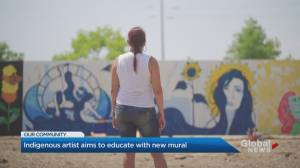 Indigenous artist aims to educate with new Mississauga mural