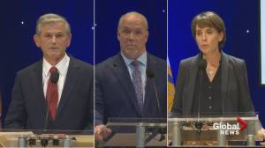 B.C. Leaders face-off in televised debate (02:07)