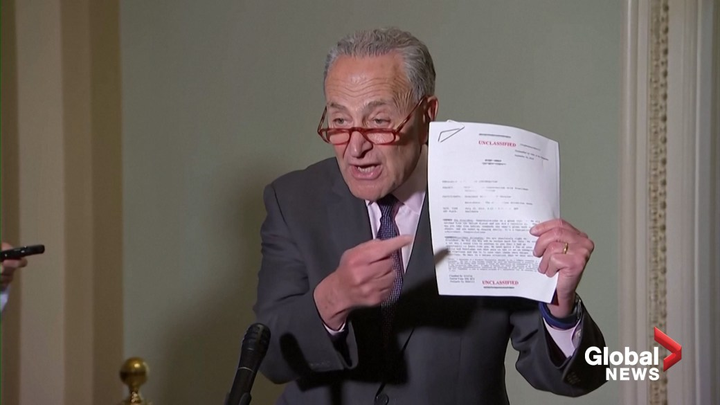 Click to play video: 'Schumer reacts to memo of Trump call with Ukraine president: 'As bad as the other stuff was, this is even worse''